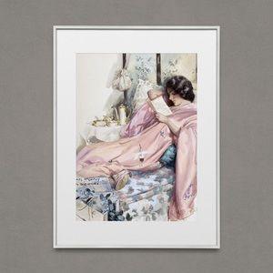 Reading Woman Vintage Artwork